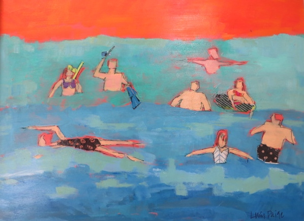 lucy paige artist key west beach day series collage Waters Fine.jpg