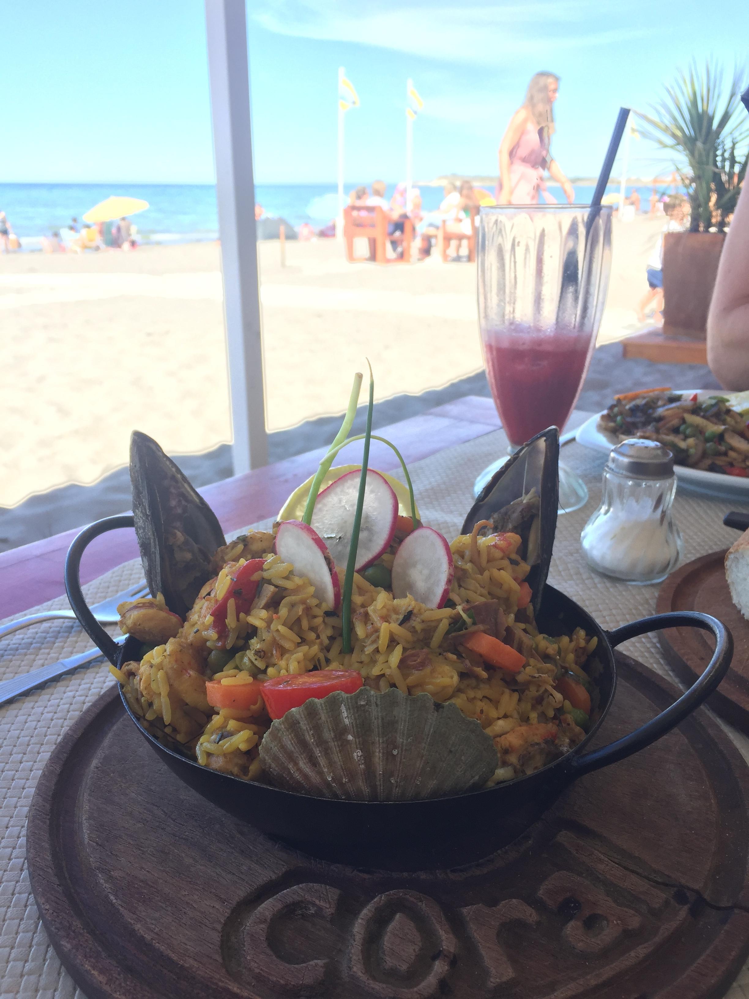 Paella Mariscos at Coral