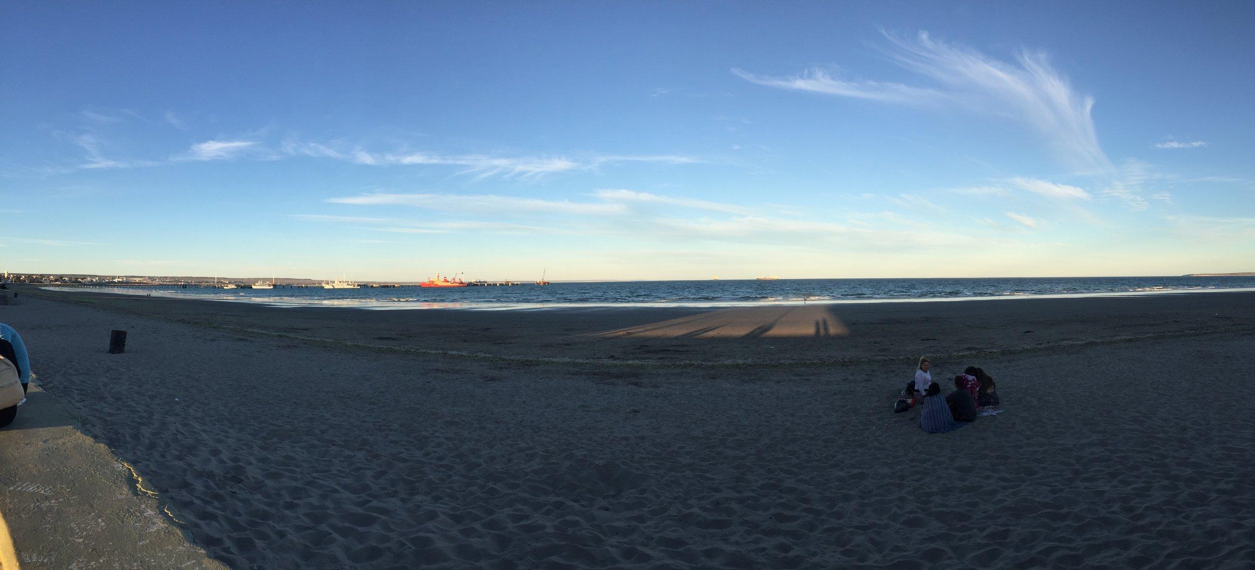Golfo Nuevo Bay at Sunset