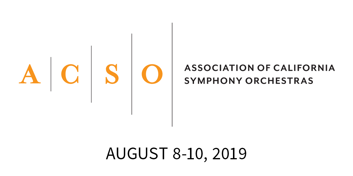 Association of California Symphony Orchestras - The 2019 Annual Conference in Monterey, CA celebrates ASCO's 50th Anniversary! Orchestras and classical music presenters across the state come together to share their insights.