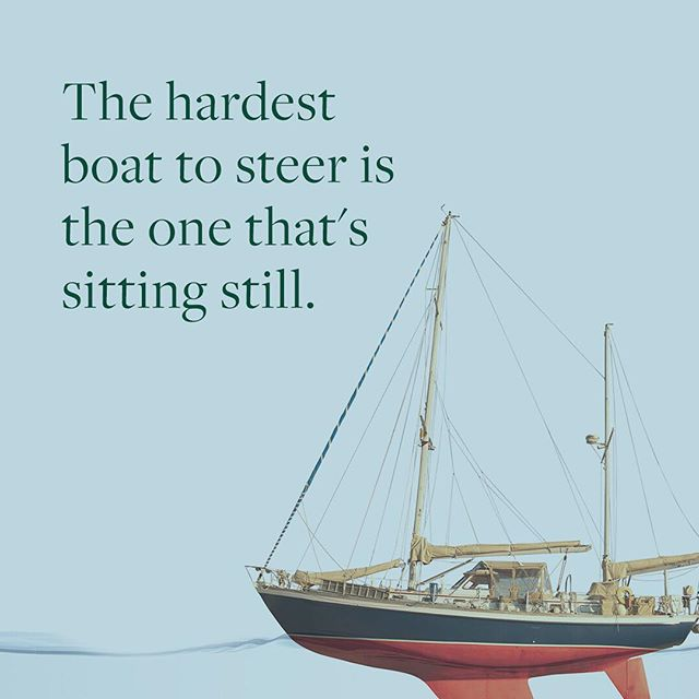 """It's true. You need momentum - any momentum - to steer a boat. The mistake so many businesses make is that they are so afraid to launch something they deem """"unready"""" or """"imperfect"""" that they lose both momentum and the ability to learn from mistakes to course correct."""