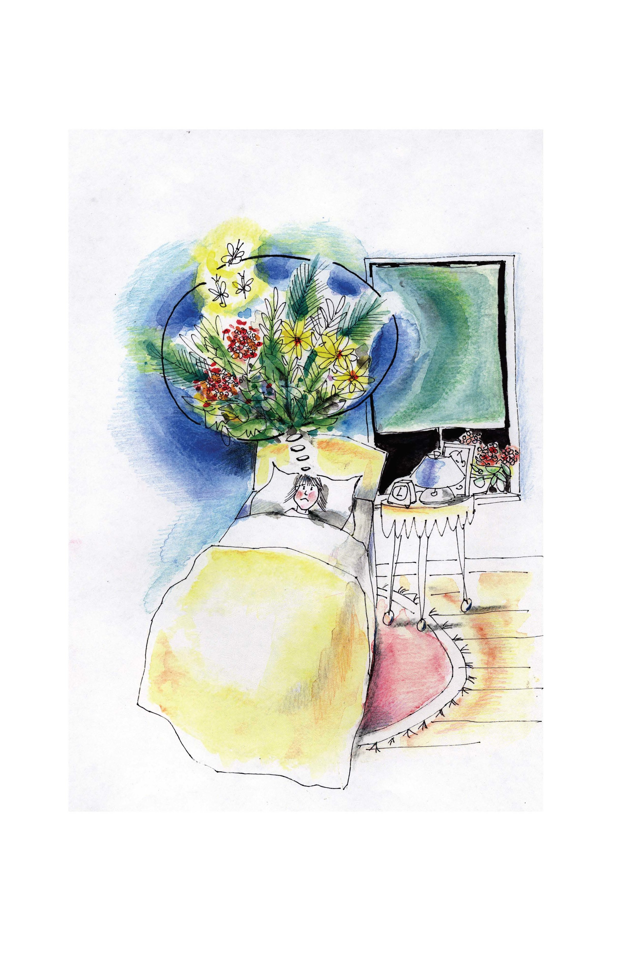 "Illustrations for ""Jane on Jane Street,"" a children's book"
