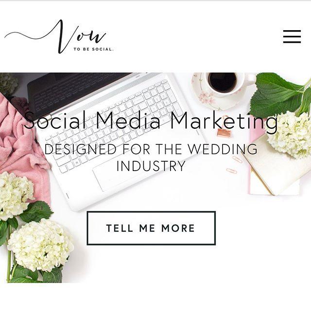 The website is officially LIVE! 🙌😁 - - - - - #vowtobesocial #weddingindustry #mplsevents #mnbride #socialmediaqueen #digitalcontent #brandphotography