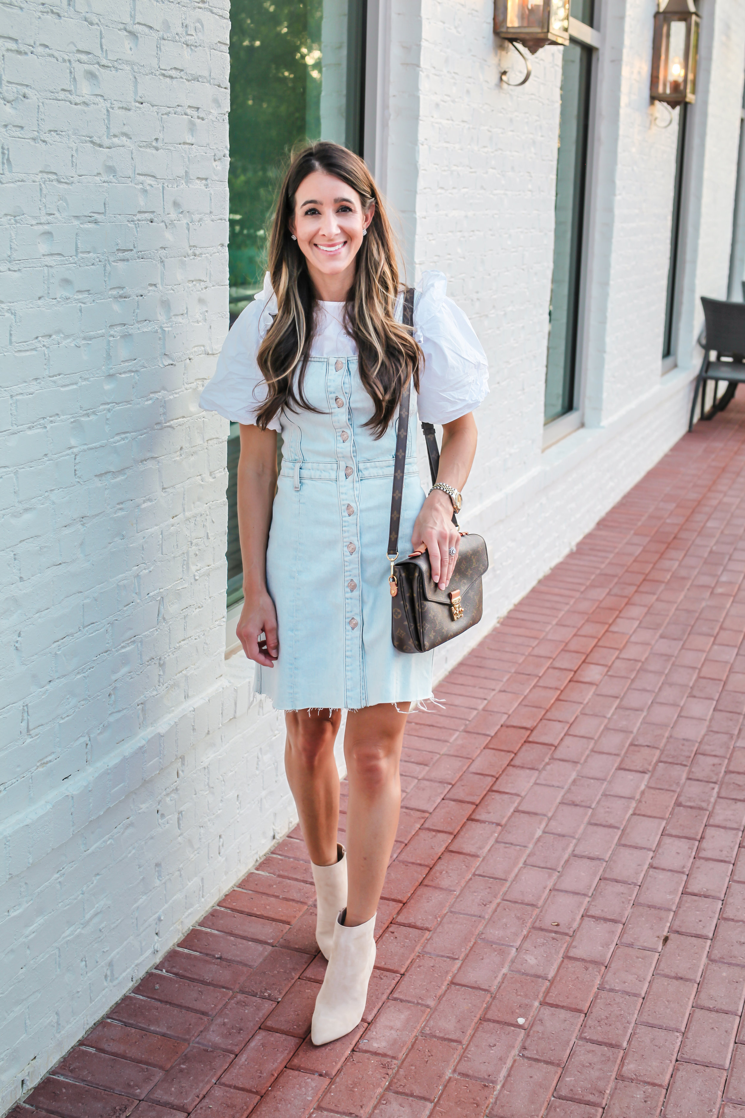 DRESS -  7 FOR ALL MANKIND | SHIRT - LOFT - SIMILAR  HERE  |SHOES-  CHARLES DAVID | BAG - LOUIS VUITTON | WATCH - ROLEX | LIPSTICK - NARS | BLUSH - NARS COLOR IS DOLCE VITA