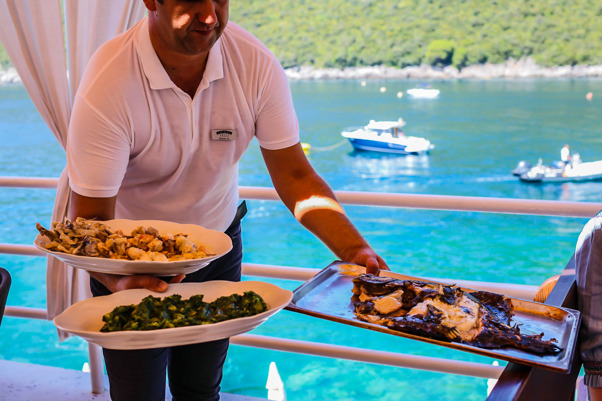 ribarska selo montenegro coast restaurant