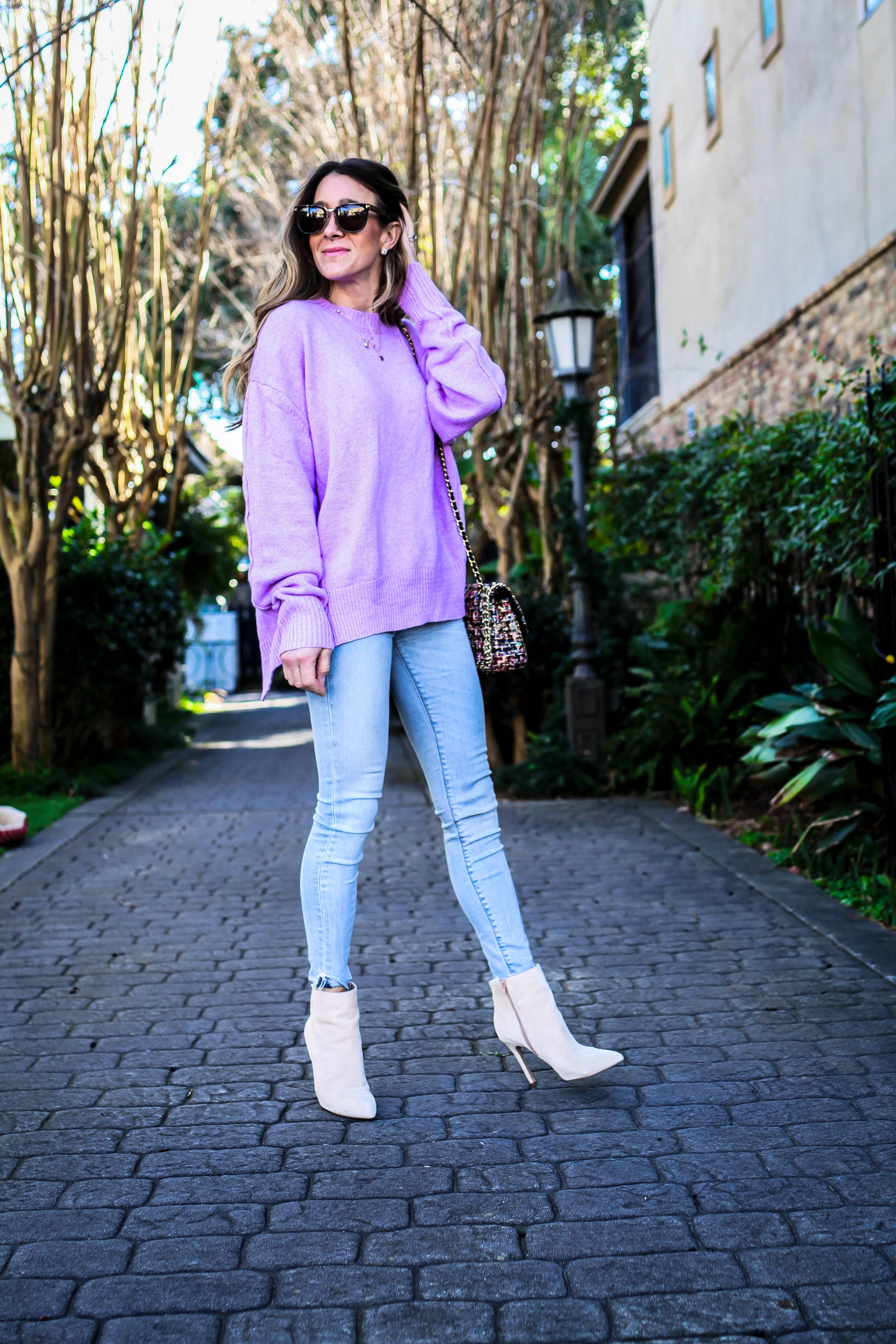 pastel purple sweater