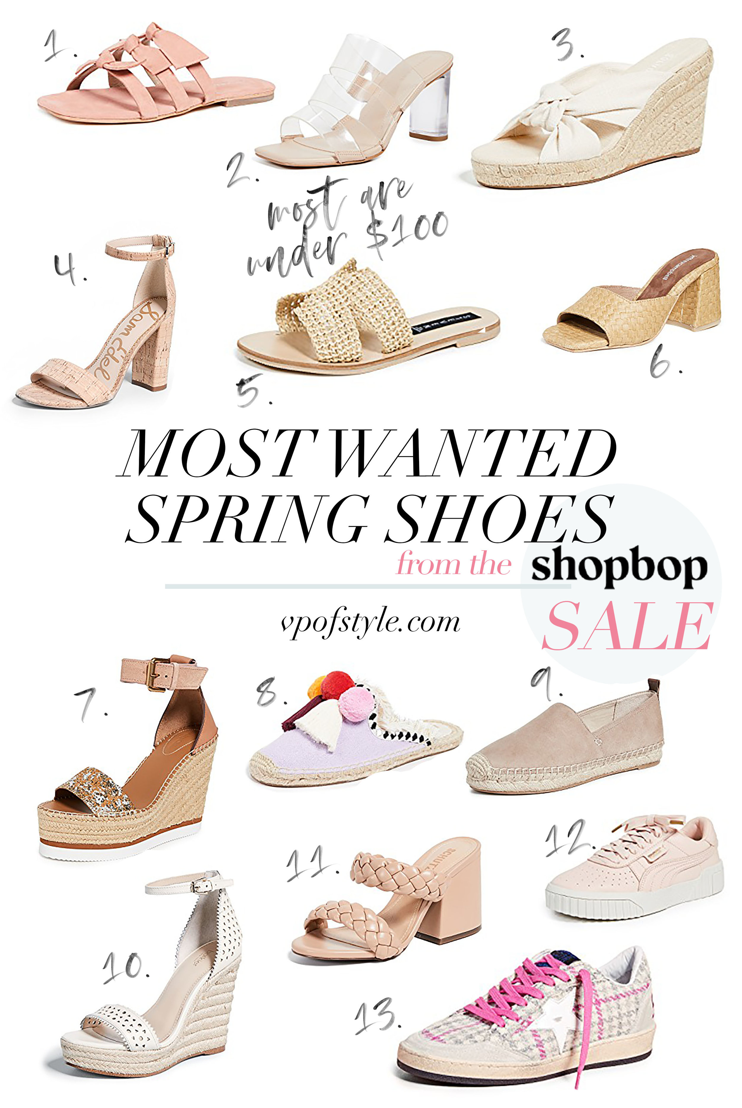 most wanted spring shoes from the shopbop sale