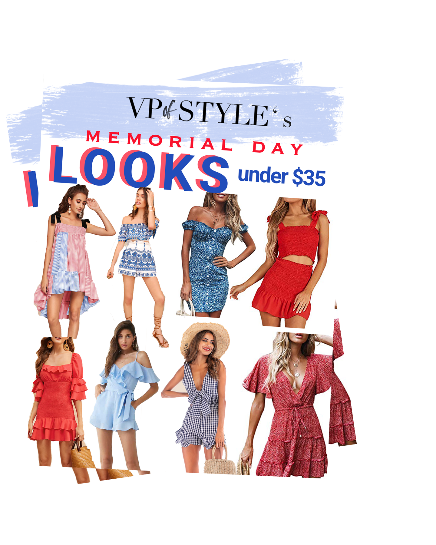 WHAT TO WEAR - Memorial Day LOOKS FOR UNDER $35 - Memorial Day is fast approaching and if you're on the hunt for a budget friendly look, I've got you covered! All of these pieces are under $35 and hard to pass up!