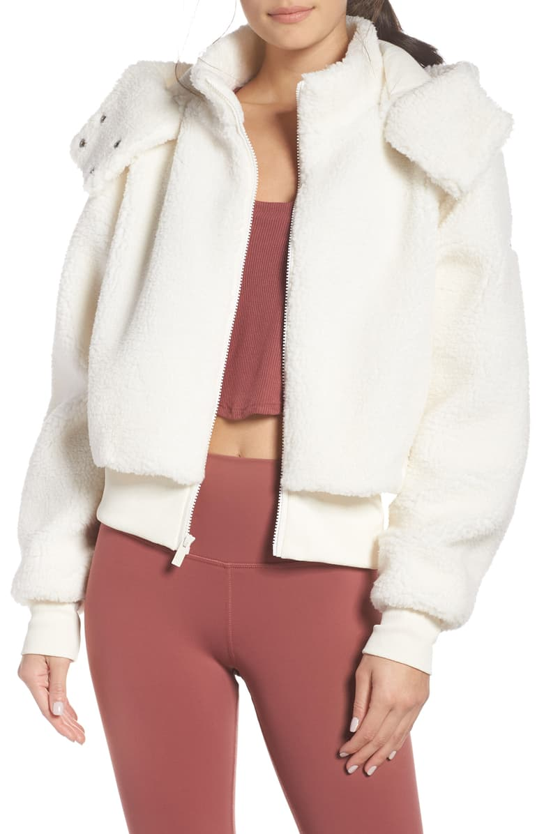 1. - This Alo Jacket I know I will wear all of the time with my workout wear this Fall/Winter. I missed out on the one from last year and kicked myself every day for it. I knew I needed a throw on like this for workout wear days this coming year.