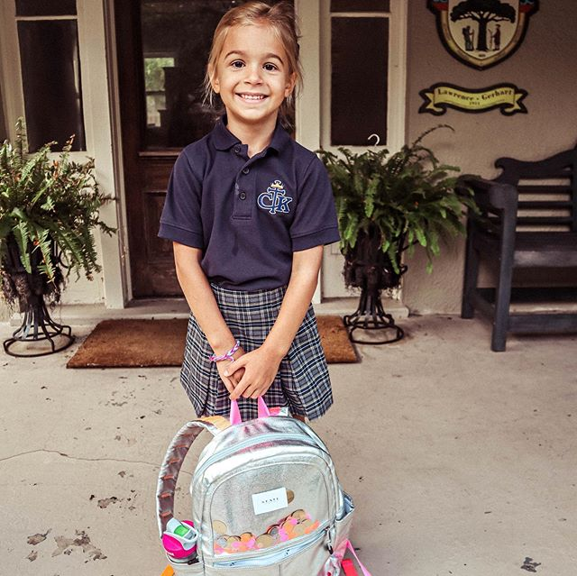 """First Day of School for all my Littles! 🍎 📚 ✏️ PreK-3, K-5, 4th, and 12th (but she's not pictures bc she """"wasn't ready"""" 🙄) 🍎 📚 ✏️ I took the last week off of social media to be as present as I could be and soak up the last days of Summer with my people! And although it's 9,000 degrees outside here, I'm ready to start styling some fall looks and share all of the fall trends you should try! Stay tuned! #happyfirstdayofschool"""