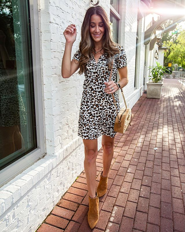 🐆 It's been a Wild Week! 🐆 A $15 leopard print dress for the win! It's great for transition and the warm fall we have here in the South! Pair with booties and a jacket later. 👌🏻 👌🏻 🙌🏻🙌🏻 Shop my daily looks by following me on the @liketoknow.it app http://liketk.it/2EkGu #liketkit #LTKunder50 #LTKunder100 #LTKstyletip