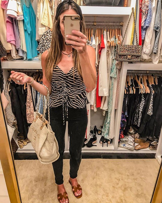 Fall transition is always tricky in the south! It's so hot! $7.99 animal print cami is perfect for this time! Wear now and then later Pair it with a jacket when the temps cool off a bit! (Hopefully soon 🥵) black high rise skinny jeans on sale for $59! Happy Friday! Shop my daily looks by following me on the LIKEtoKNOW.it app @liketoknow.it #liketkit http://liketk.it/2EJdW #LTKxNYFW #LTKsalealert #LTKstyletip #LTKunder50 #LTKunder100