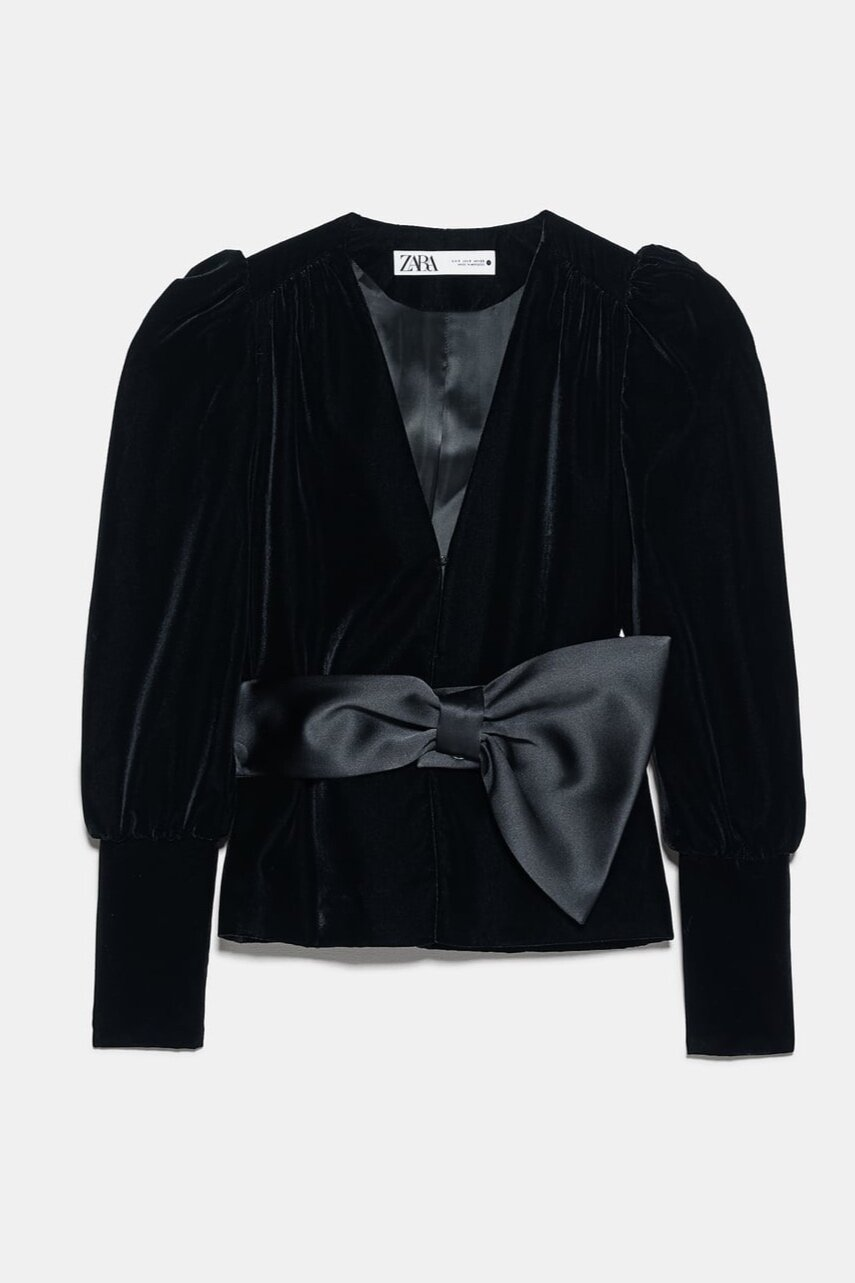 VELVET BOW JACKET ||SIMILAR HERE