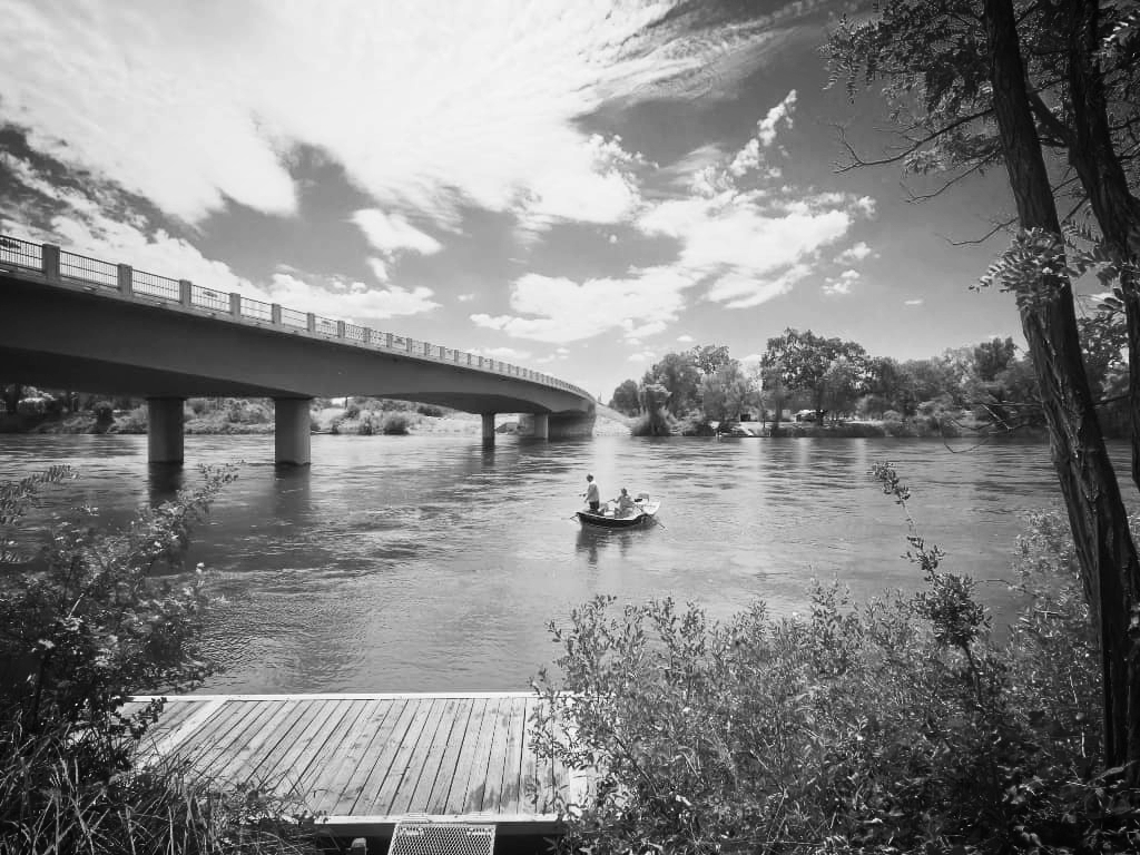- Our boat dock is locatedon the site of the first historic crossingof the Sacramento river