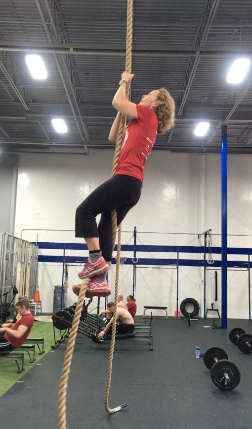 May 2016 - learning to rope climb