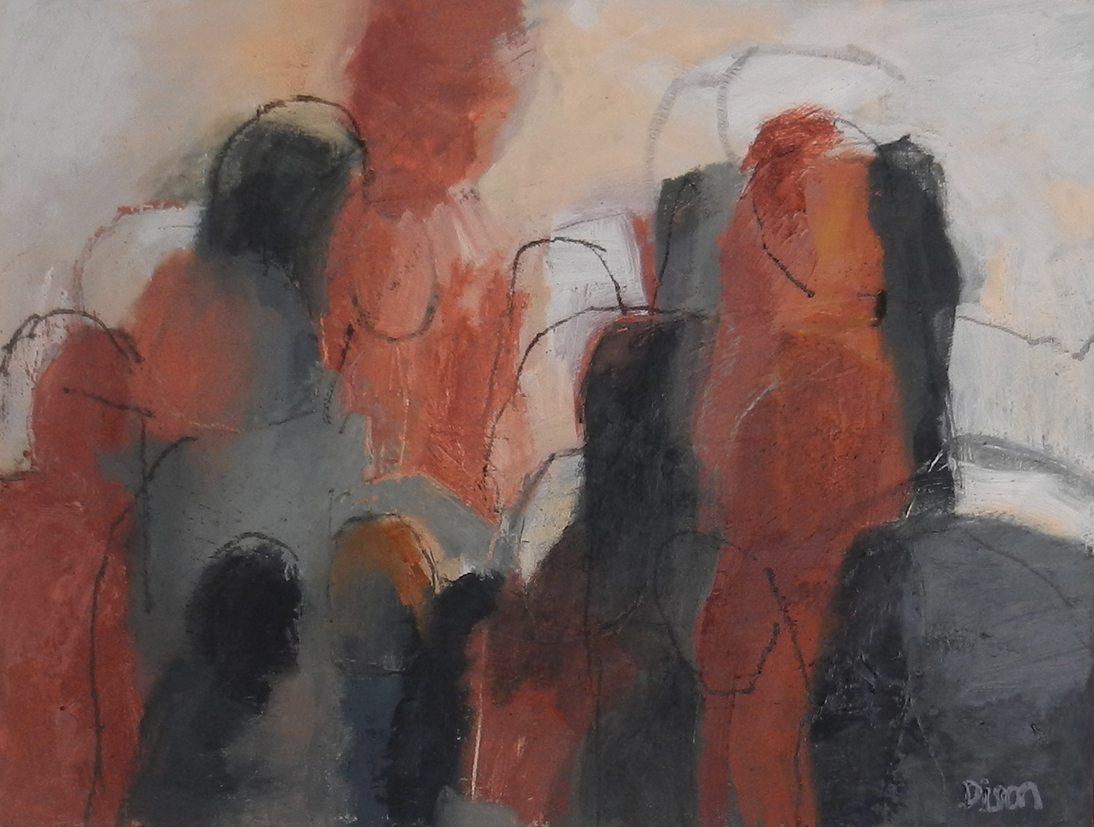 Assembly-Conigar 1 Oil on board 30.5 x 40.5 cm