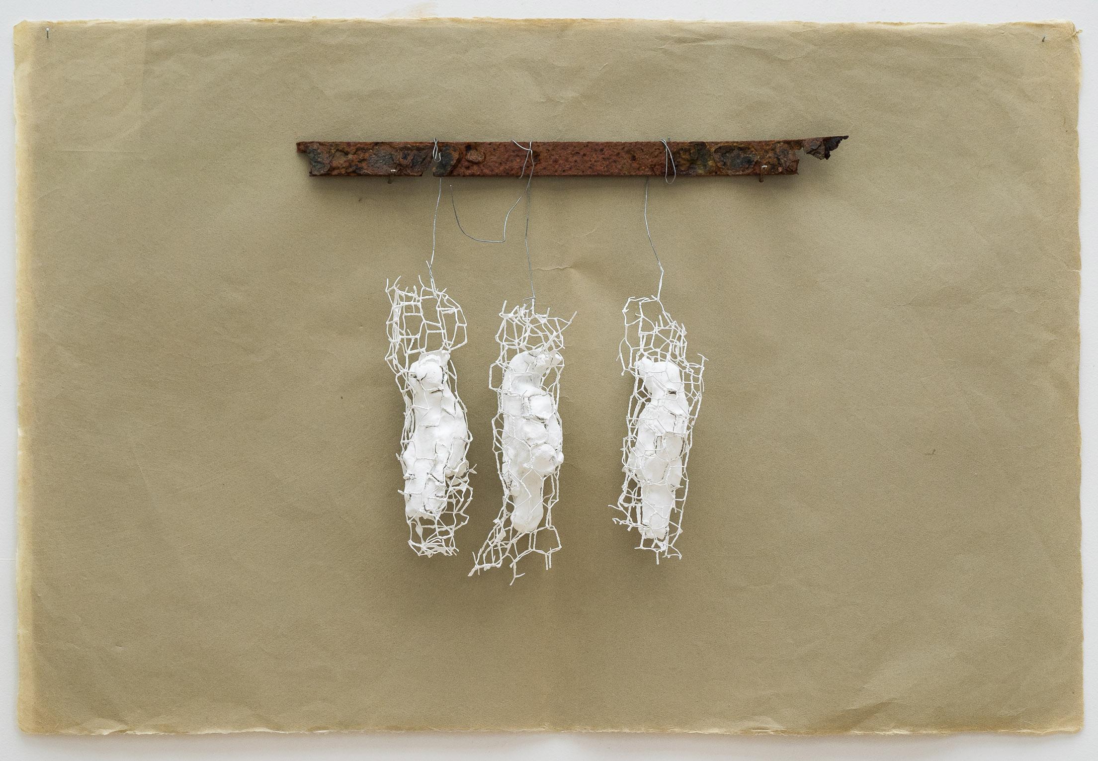 Untitled  Clay, wire, found metal 65 x 97 x 8 cm 2017
