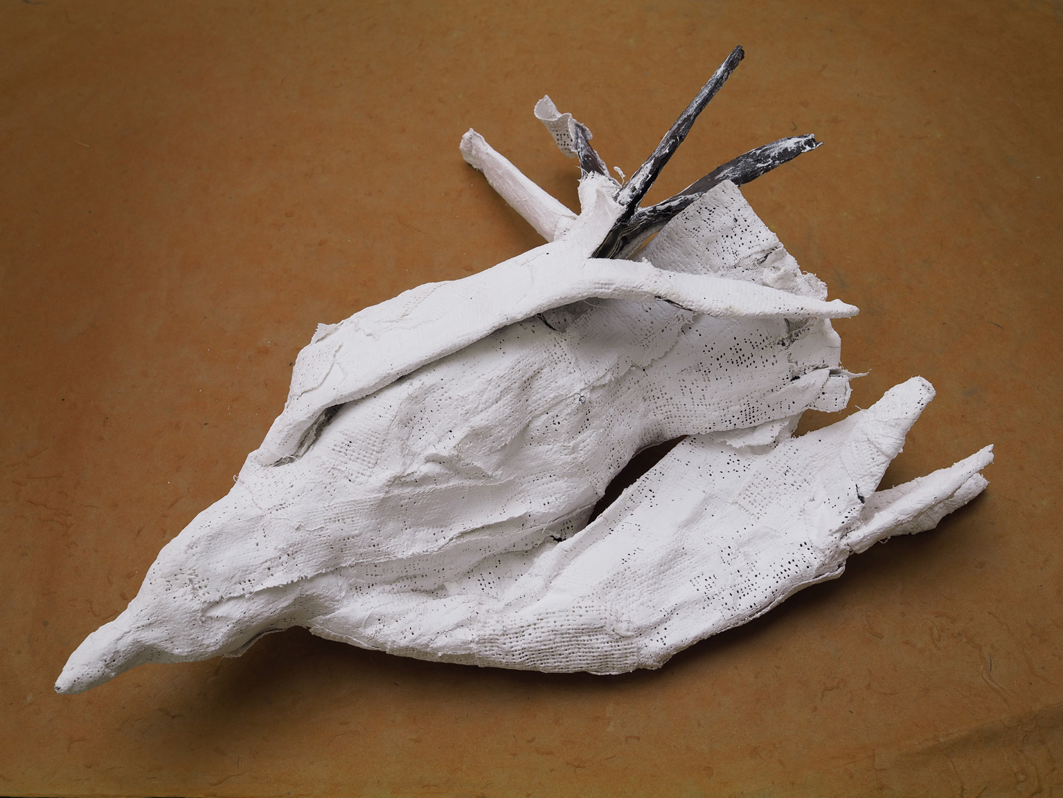 Untitled  Paper, plaster, wire 41 x 33 x 16(h) 2017
