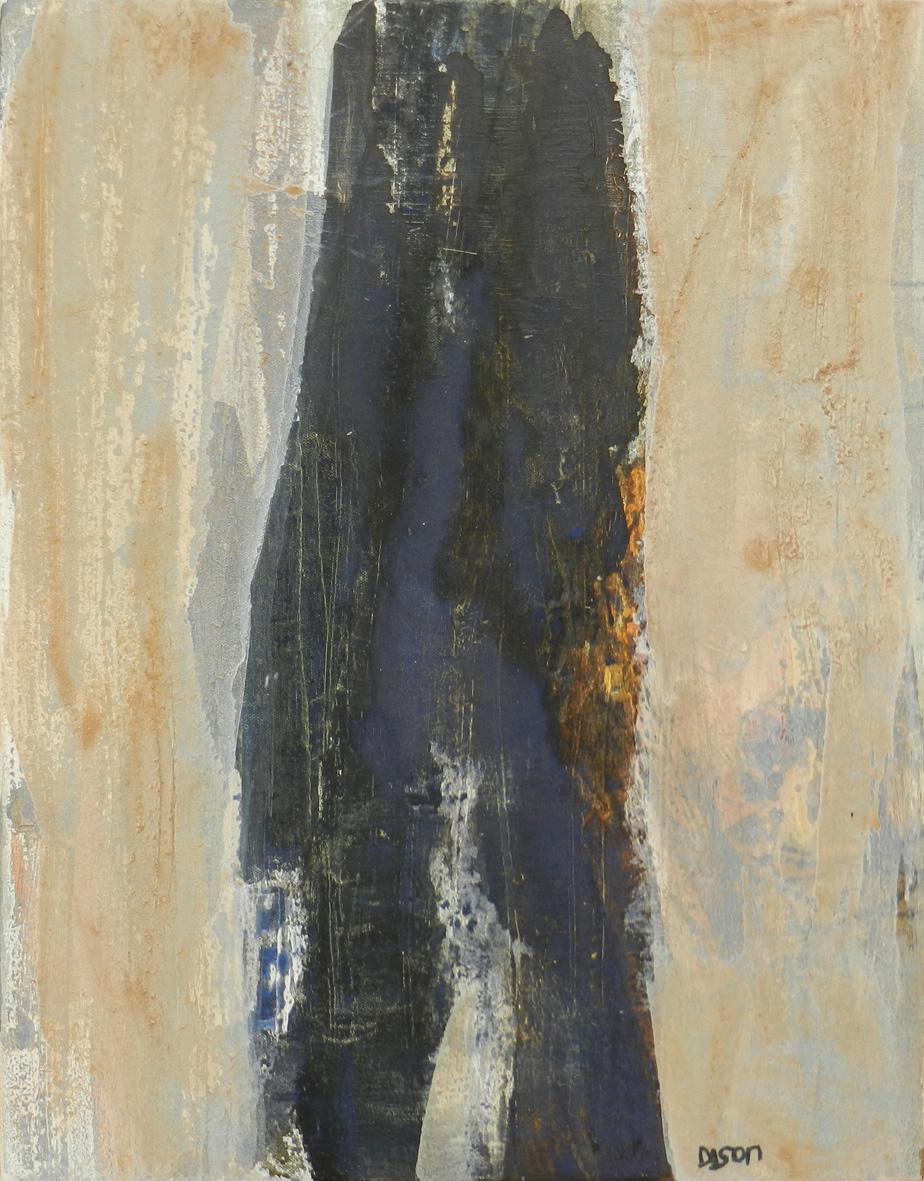 Blue Power Figure Mixed media on board 46 x 36 cm 2016
