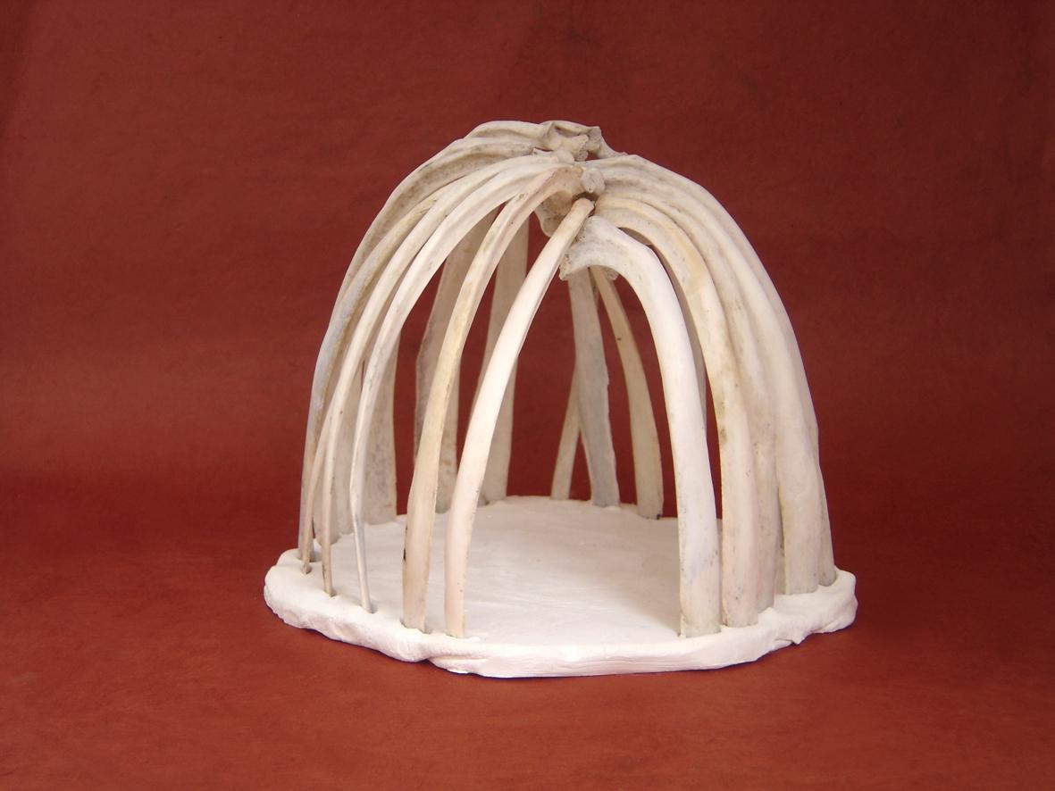 Bone House Sheep bones and ceramic 2013