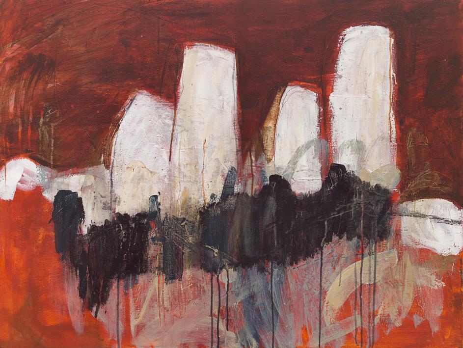 Blood and Bones Acrylic on canvas 76 x 102 cm 2009