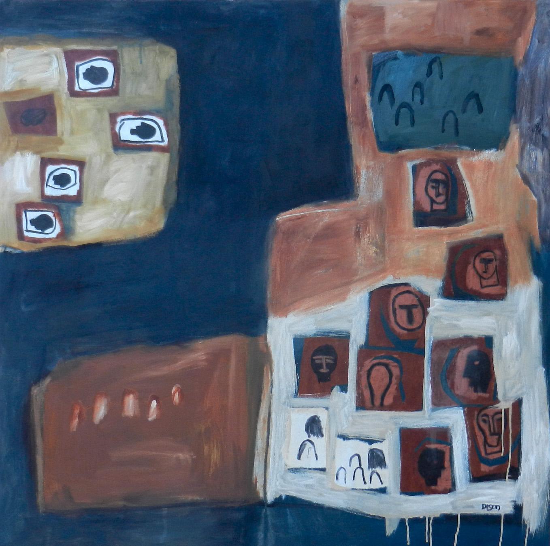 Inclusion Oil on canvas, 100 x 100 cm, 2019