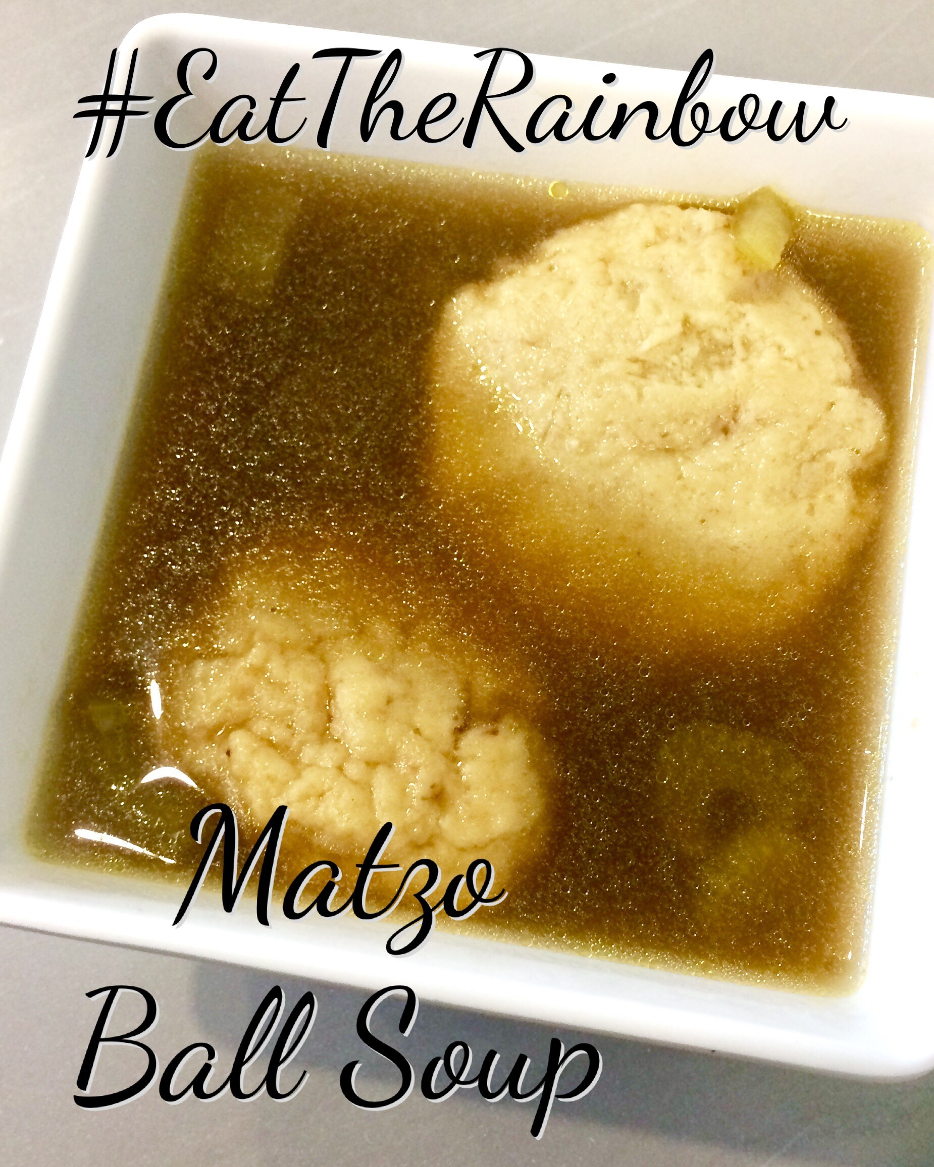 Matzo Ball Soup with Chicken, Carrots & Celery