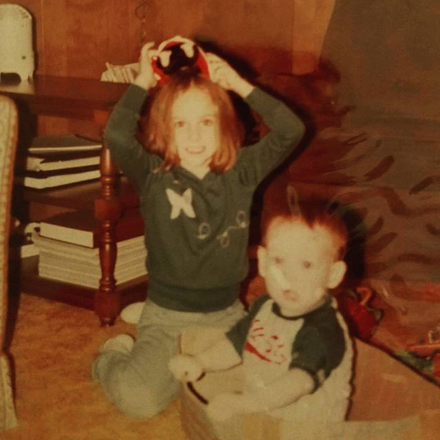 Happy National Siblings day.  I think I was trying to send my brother @cody71272 away!! Haha. We've barely changed except I still have all my hair. 😂😂😂 Love ya brother.