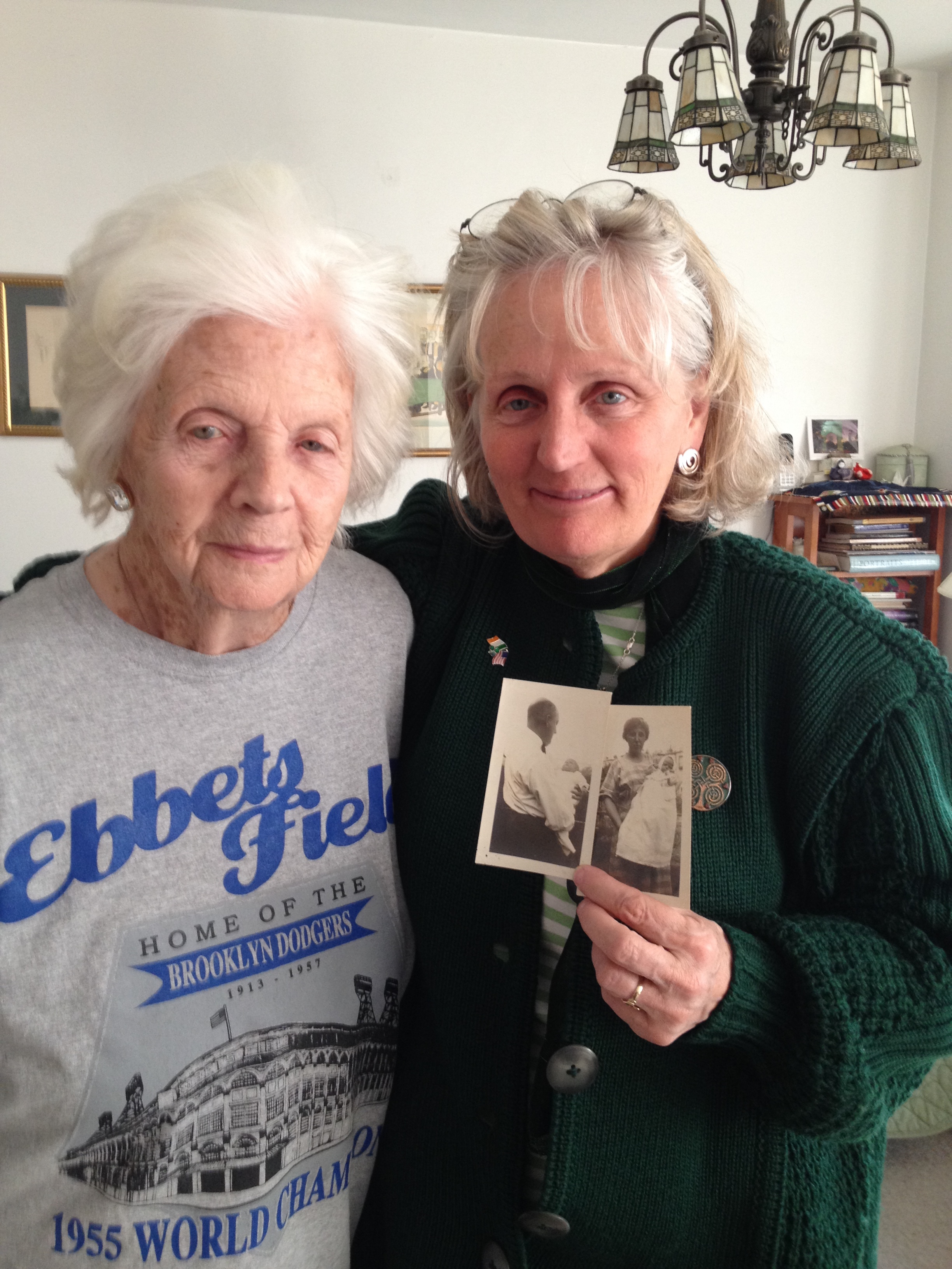 "Lucille Horn and her daughter Barbara in 2015. Although she was ""not supposed to live a day,"" she was 95 in this picture."