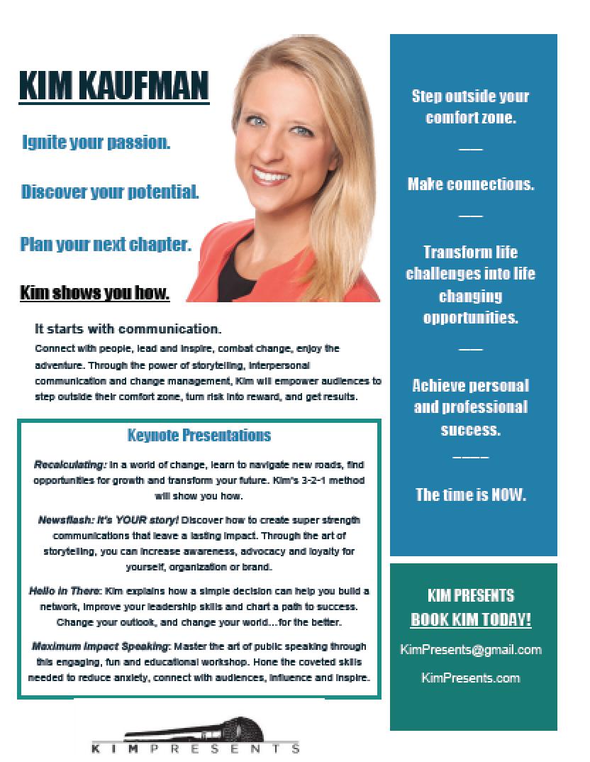 Kim Kaufman's One Sheet