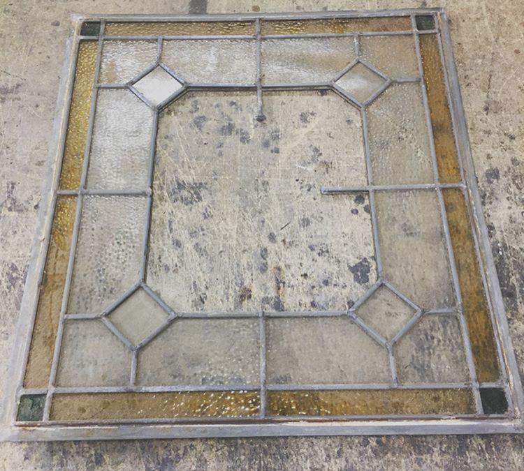 Zinc Came Repair-Before