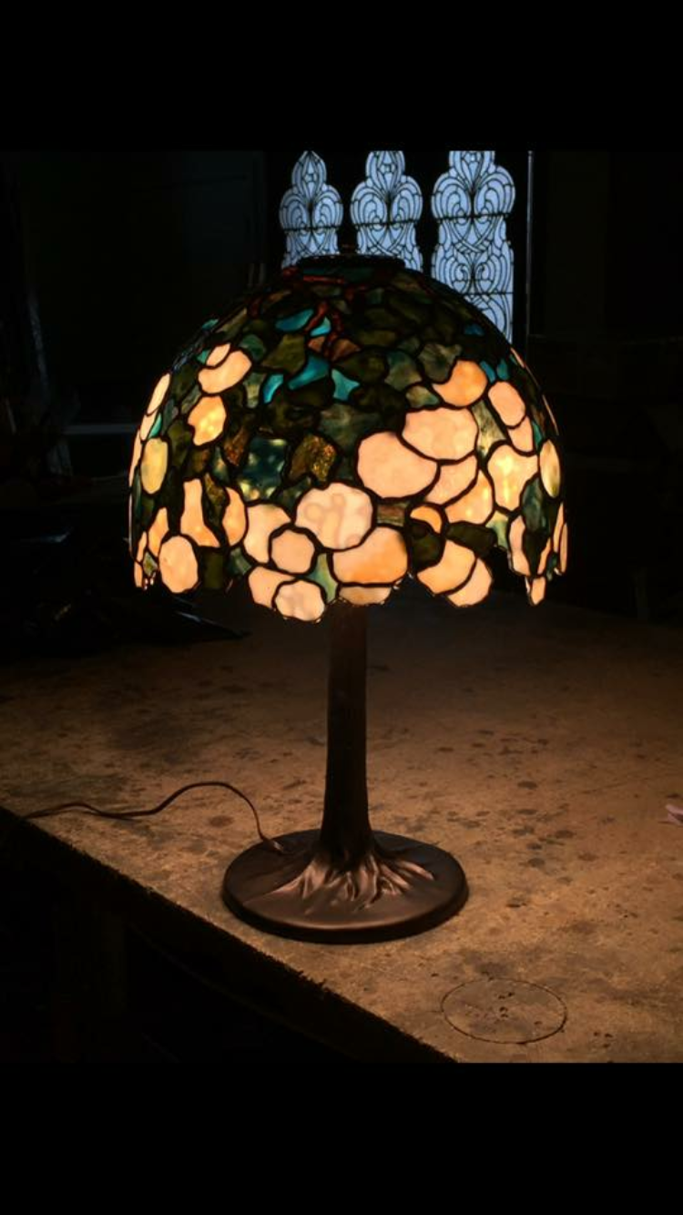 "Custom 16"" Hydrangea Lamp"