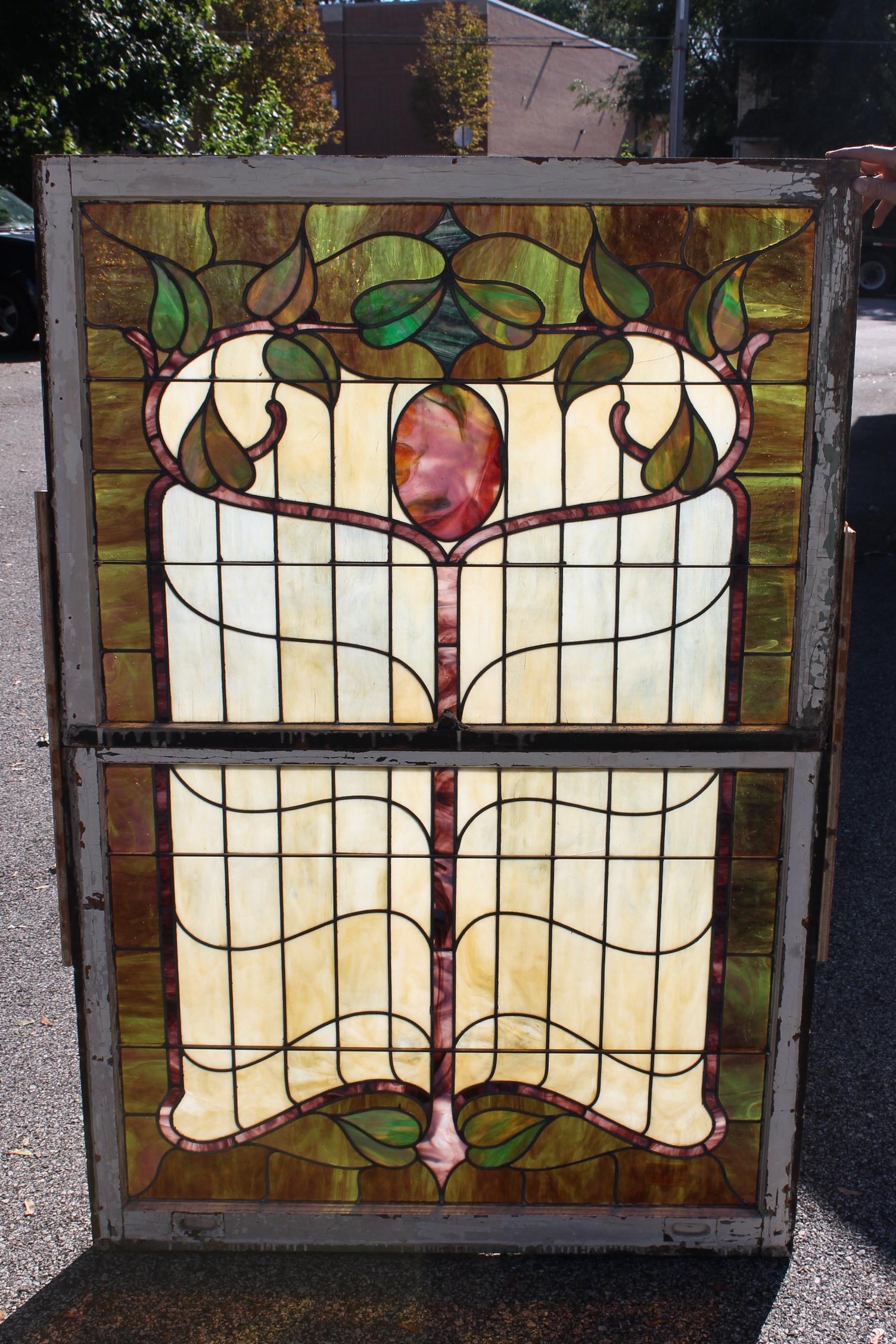 Art Nouveau Double Hung