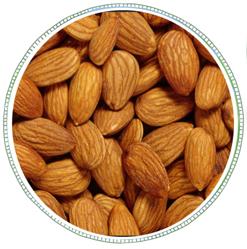 Almonds - A great snack or use in cooking. A source of healthy fats, fibre, protein, magnesium and vitamin E.