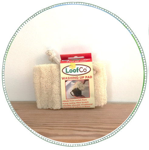 - £3.50From brand LoofCo. Made from Loofah plant. Non-scratch washing-up pad - flexible, durable and traditional. Will last for months and at the end of its natural life can be composted.Biodegradable & recyclable alternative to plastic scourers, brushes, exfoliators and sponges.May appear abrasive in its dry state, but when immersed in water the pad will swell to become a soft, spongy and flexible pad.To keep your loofah fresh between uses, squeeze out any excess water, shake out any food particles and hang it to dry from the cotton string loop. Occasionally wash in the washing machine or by hand.