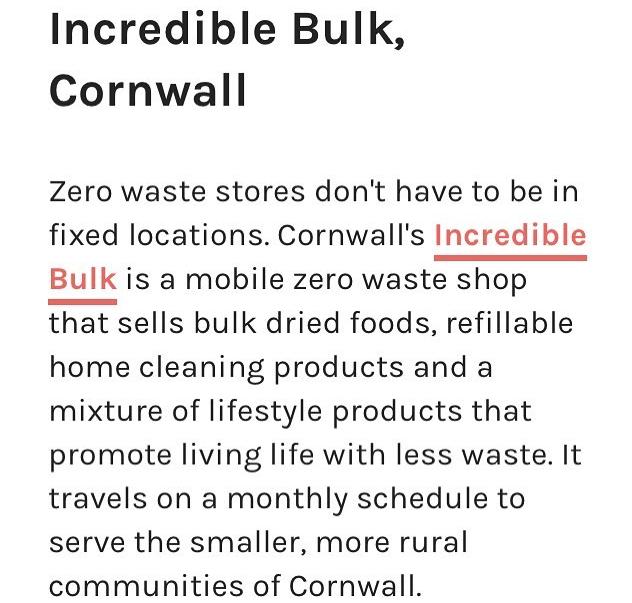 Pebble Magazine UK's zero waste shops