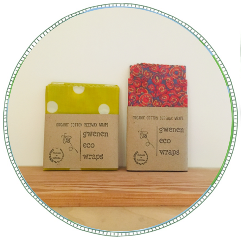 - £17 for pack of 3 £15 for large singleFrom brand Gwenen Eco.Hand made in Cornwall. Using 100% natural, non-toxic materials. Made using GOTS certified organic cotton together with a mix of natural beeswax from Cornwall, unfiltered pine resin and organic jojoba oil.These wraps are compostable and biodegradable.A great alternative to single-use plastic wrap. Use for anything that you would ordinarily use cling film for. The warmth of your hands gently moulds the wraps creating a seal that helps keep food fresh. Great for use in the kitchen and also for when you are out and about.Wash gently in cool water and let dry. Each wrap should last around a year depending on use and care.Not to be used on raw meat or fish.3 pack includes a small, medium and large wrap.1 pack is a single large sheet 45cm x 55cm.We also have a vegan version of the 3 pack using soya and candililla wax.