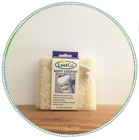 - £3.50From brand LoofCo. Made from Loofah plant. This body loofah will gently expand and soften in water, use it in the shower or bath and it will gently clean, exfoliate, smooth and refreshes your skin.  Biodegradable & compostable alternative to plastic exfoliators and sponges. To keep loofah fresh between uses, rinse and squeeze out excess water and hang to dry from the cotton string loop. Occasionally wash in the washing machine or by hand if you like.