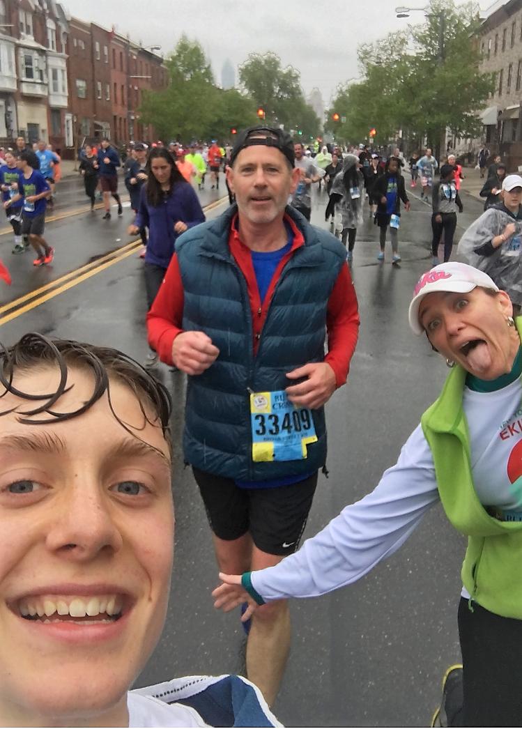 Mile 8 of the Broad Street Run Marathon in Philadelphia
