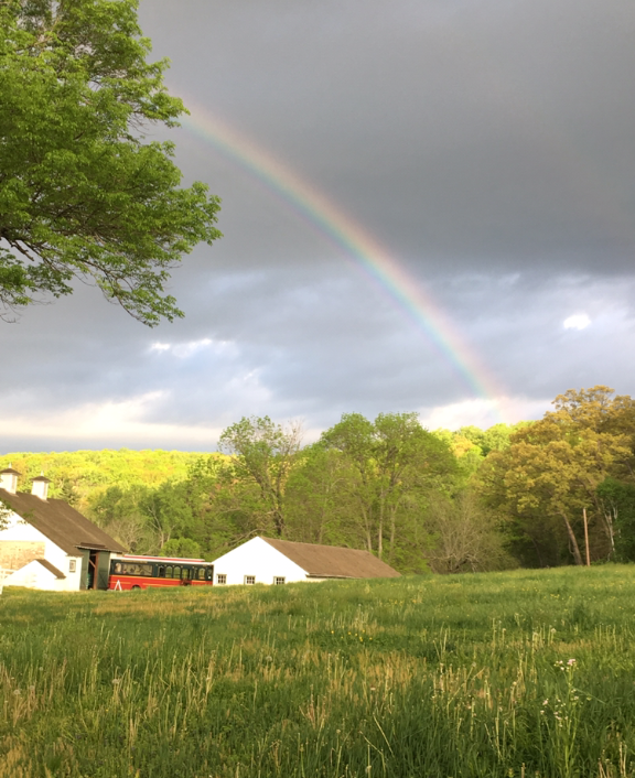 Rainbow at Valley Forge Park