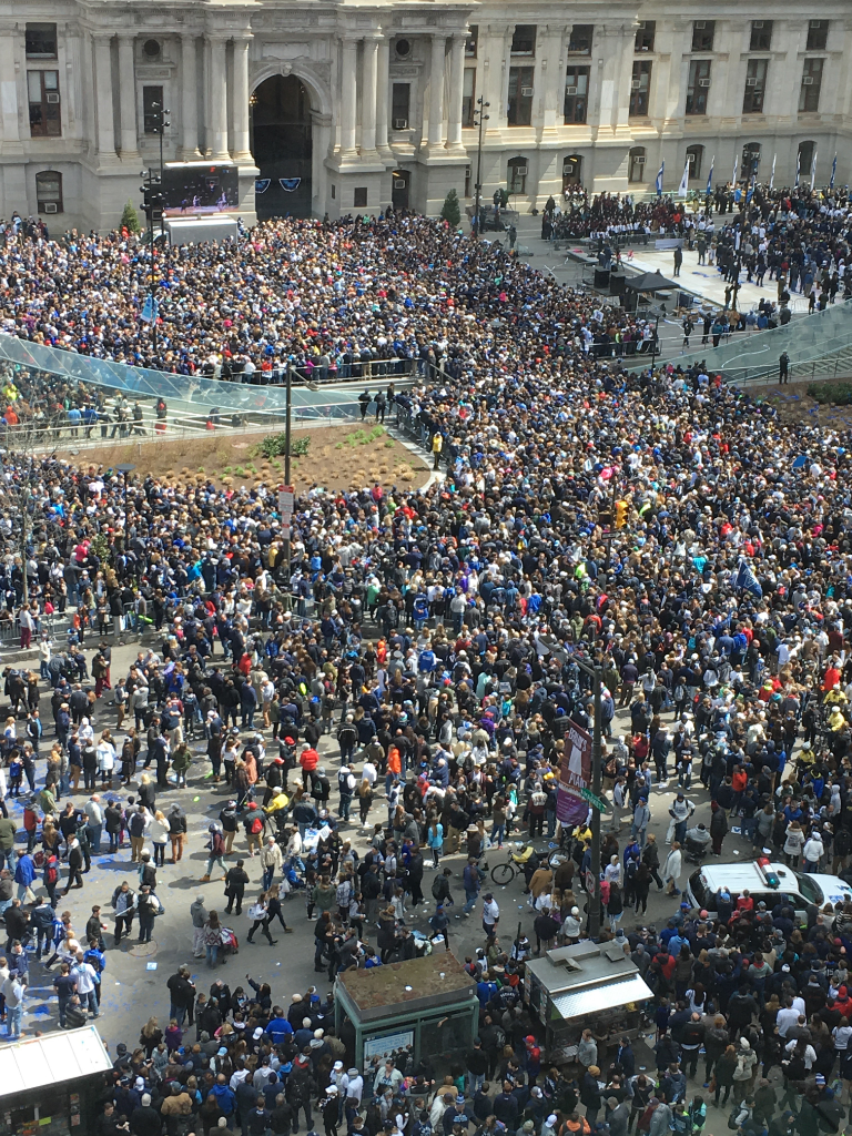 The parade for Villanova's national Championship-from my office window