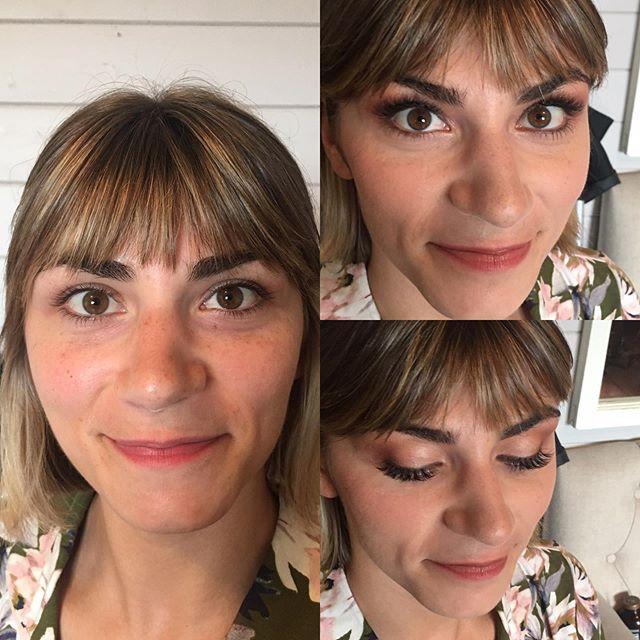 Before and after natural makeup. . . . . #pdxmua #heiserfarm #daytonoregon #oregonwedding #oregonbride #makeuoforweddings #skincarematters #makeupforphotography #weddingseason2019