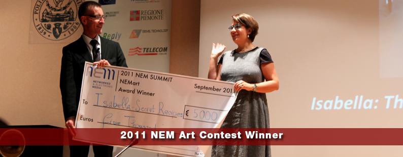 Wining the NEM contest 2012, Torino, Italy