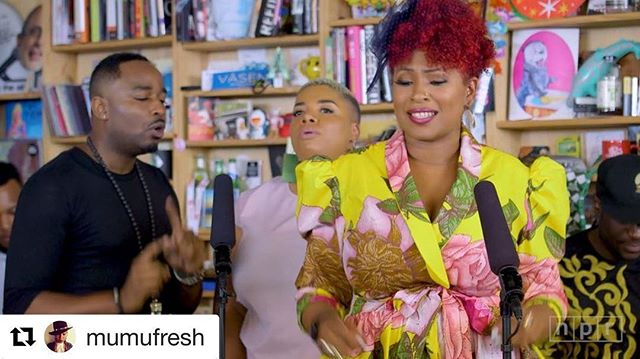 "Because #Sistar⭐️ @mumufresh is amazing!!!! Listen!!!!💜💜💜💜💜💜💜💜💜 #Repost @mumufresh with @repostapp ・・・ One my favorite songs I've ever written. It's so real. I watched my nephew be born and then leave too soon. A victim of gun violence by so called friends. It was hard to write this but. @djdummy produced the hell out of this song. It rang me dry. Music has a way of filtering and purifying the heart and soul from tragedies that would otherwise kill us. This song is called #WorkInProgress the video directed by @lambskincondomsandprayer drops later this month. Be on the look out. #tinydesk #npr #mumufresh #vintagebabies #djdummy #ripkhalil  watch the full performance on the npr website. Link in my bio  download the album on iTunes if you haven't already Maimouna Youssef & Dj Dummy ""Vintage Babies """