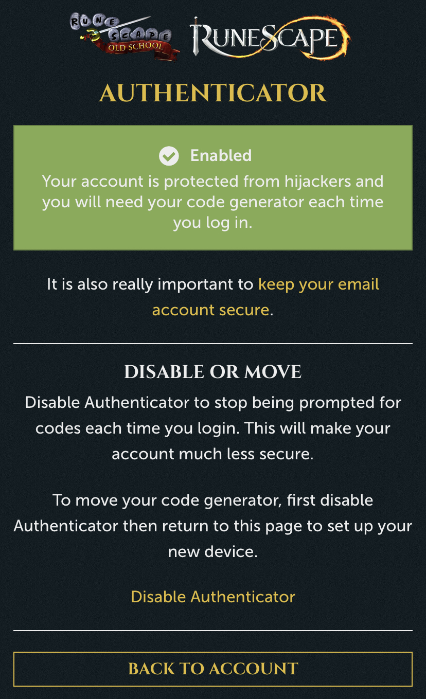 How To Secure Your RuneScape Account — Oedema5 com
