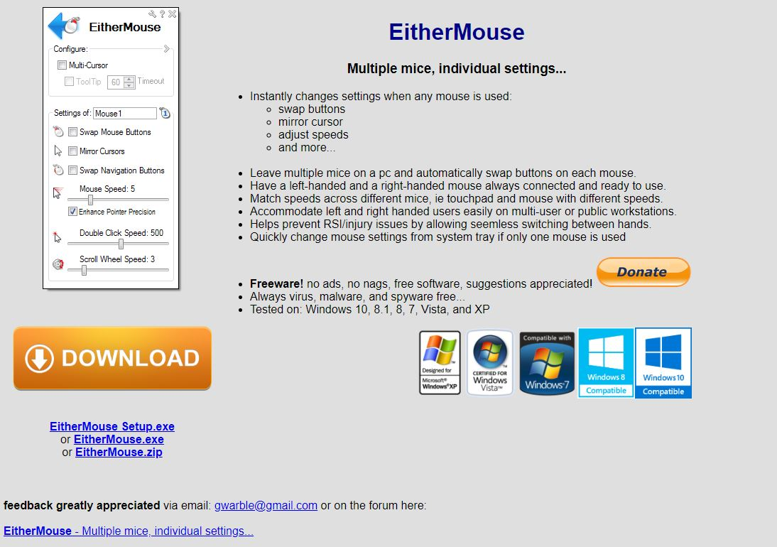 So eithermouse almost worked, except the cursors aren't completely separate.