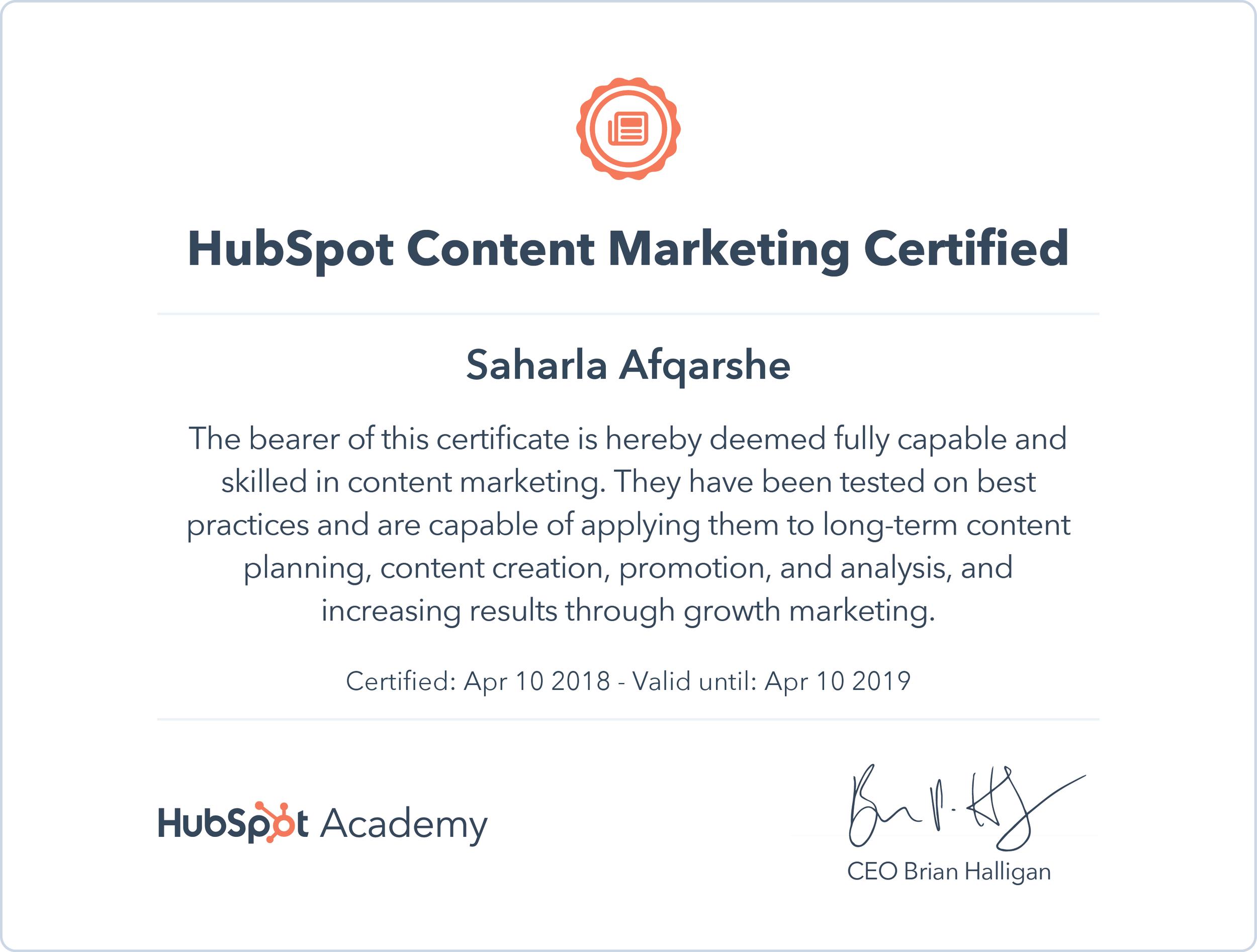 Content Marketing Certificate Saharla Afqarshe.png