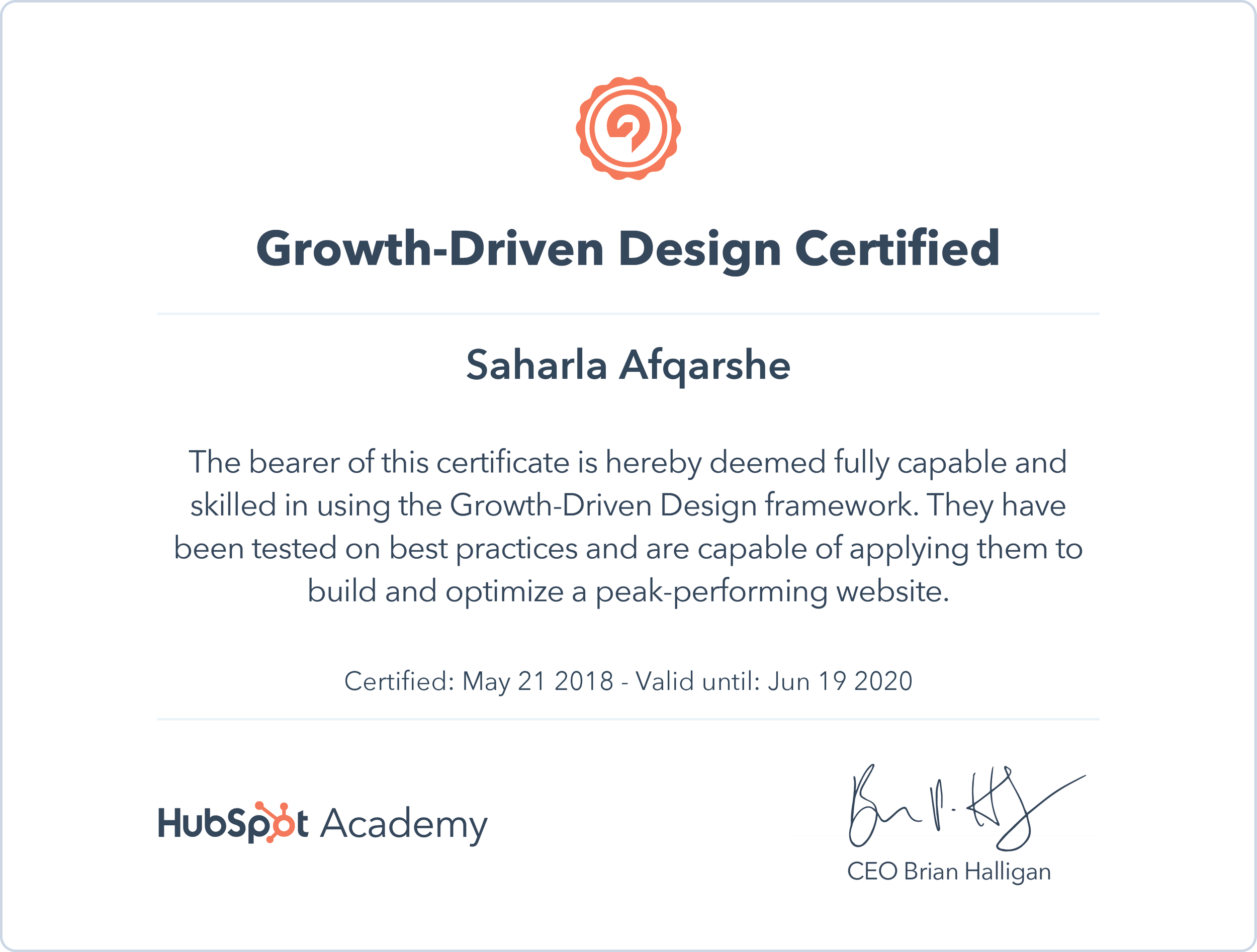 Growth Driven Design Certificate Saharla Afqarshe.png