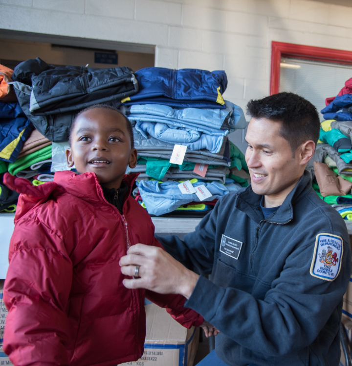 In the Community - The K12 Athletics Foundation in partnership with Firefighters and Friends to the Rescue also works in the Washington, D.C. metropolitan area to help fill some of the gaps with the things these kids need most – backpacks and school supplies, warm new coats for winter and gifts to help make the holidays special.