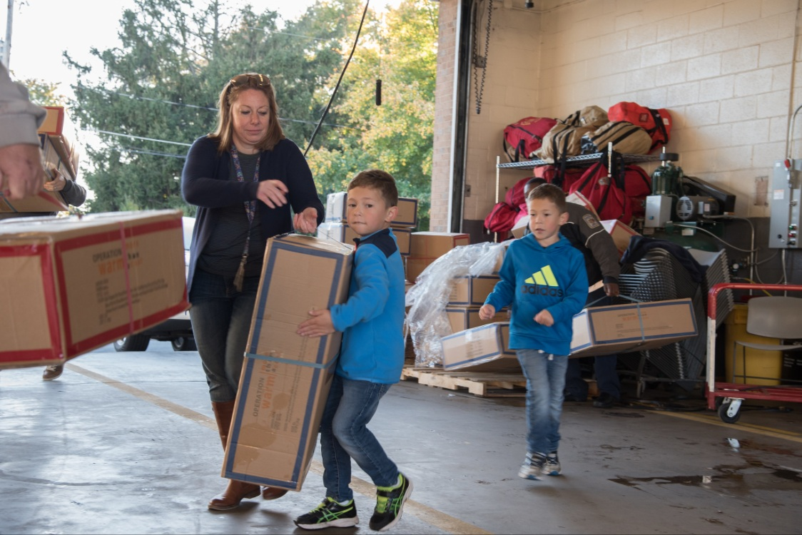 Maks working hard at the Coat Drive Oct. 2017